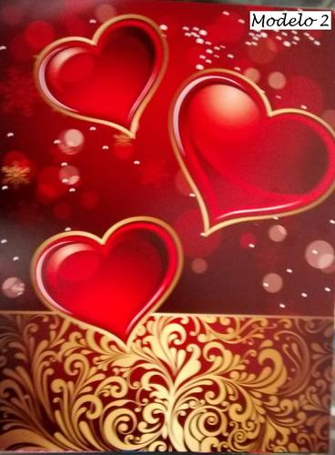 Cartulina Diseño Corazones Enamorados Tamaño Carta (10 Unid)