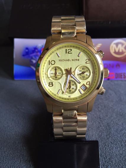 Relógio Michael Kors Mk5055 Gold Original Completo C/ Caixa