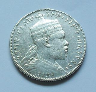 Moneda Plata .835 Imperio Abisinia 1898. $400.