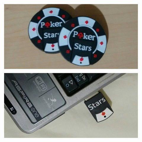 Pen Drive Ficha Poker Stars - 8gb - Exclusividade