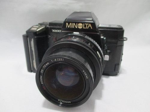 Antiga Camera Minolta 7000 Lente 35-70mm **sem Testar**
