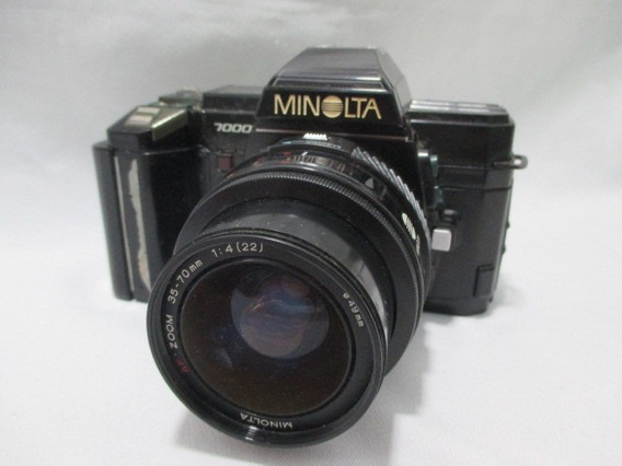 Antiga Camera Minolta 7000 Lente 35-70mm **sem Testar**