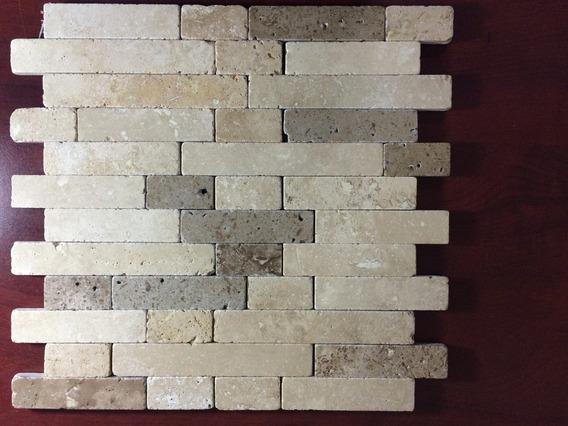 Malla Mosaico Tapete Marmol Travertino Rustic Blend