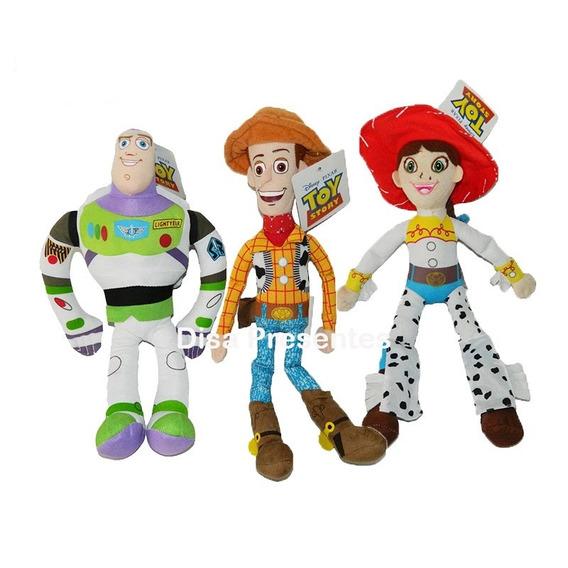 Personagens 38cm Toy Story Woody, Jessie Ou Buzz- Individual