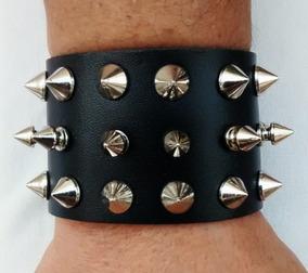 Bracelete Munhequeira Rock Punk Com Spikes