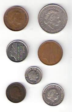 Lote De 7 Monedas De Holanda Distintas ¡ Oferta !