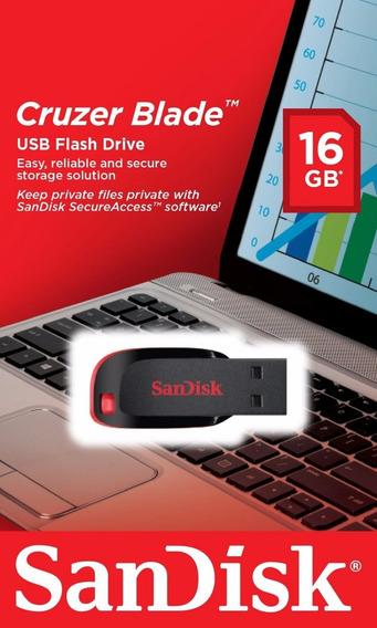 Pendrive Sandisk 16gb Cruze Blade 100% Originales En Oferta