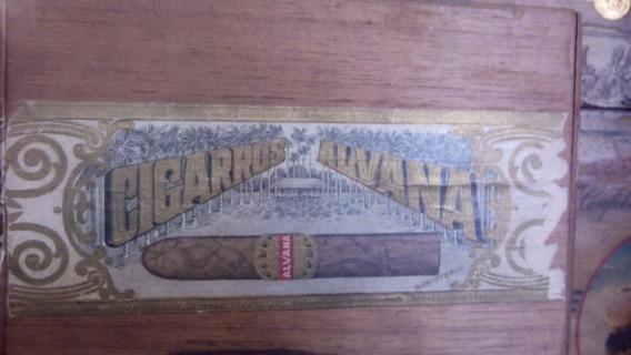 Antiguo Caja De Cigarros Alvana