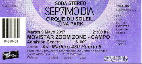 Septimo Dia Cirque Du Soleil Soda Stereo Campo 9 Mayo