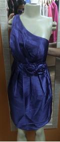 Vestido De Tafetá De Seda Roxo