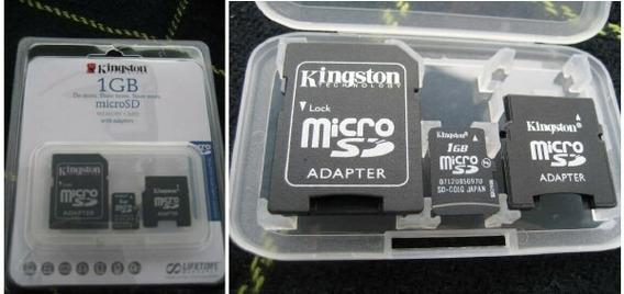 Cartão Sd + Adaptador P Cartão Mini Sd + Microsd 1g Kingston