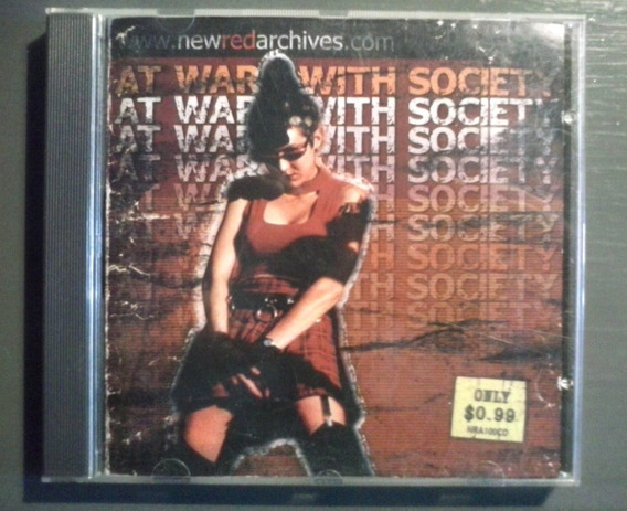 Cd At War With Society Comp. Anti-flag No Use For A Name Usa