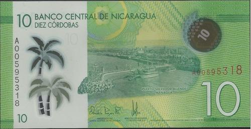 Nicaragua 10 Cordobas 28 Mar 2014 P209 Plastico