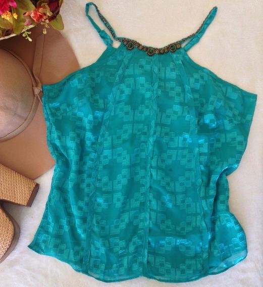 Blusa Perfect Way Verde Com Pedra Tam P