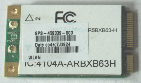 Placa Wireless Wifi Para Notebook Hp Dv7 / 459339-003