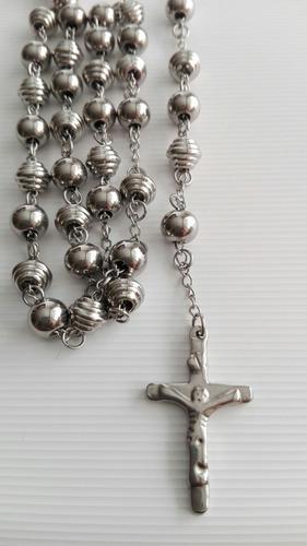Camándula Collar Hombre Jesús Cristo Acero