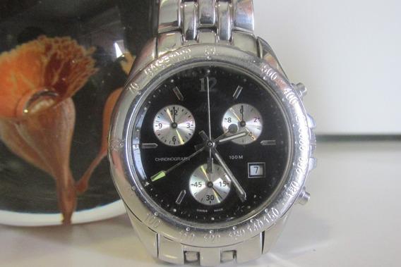 Relógio Mido Cronógrafo 4535 Swiss Made Original Todo Aço !