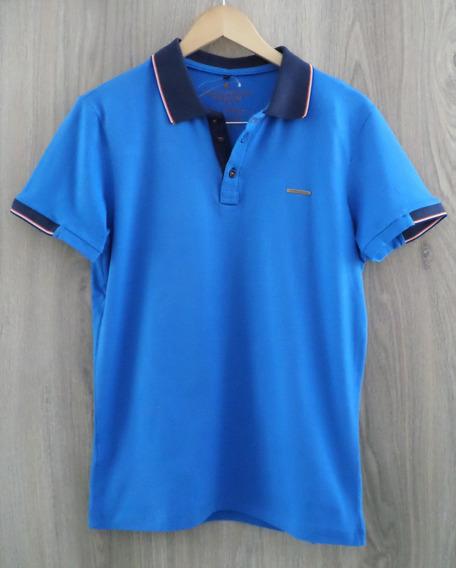Camiseta Primo Santo Polo - Azul Detalhe Gola