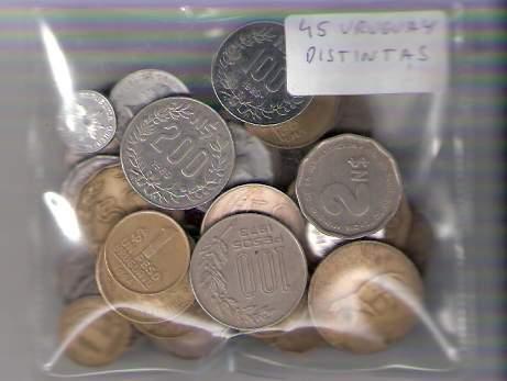 Lote De 35 Monedas De Uruguay Distintas ¡ Oferta !