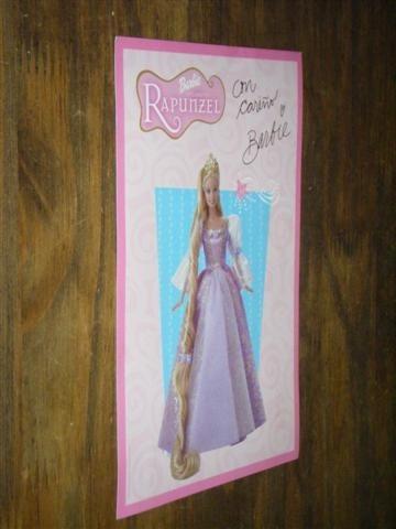Tarjeta Postal De Barbie Rapunzel