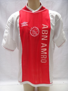Camisa De Futebol Do Ajax Da Holanda 1999-2000 Umbro Mc2