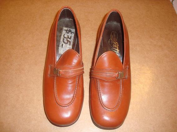 Par De Zapato Antiguo Sin Uso Nro 31 Marrón Nuevo Estilo