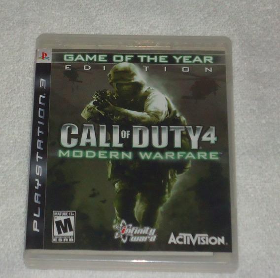 Call Of Duty 4 Modern Warfare Goty Ps3** Leia