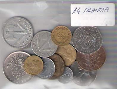 Lote De 14 Monedas De Francia Distintas ¡ Oferta !