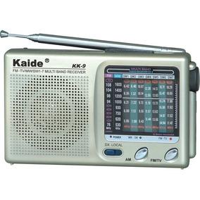 Rádio Analógico Antigo Portátil 9 Faixas Am Fm Tv Mp3 Pocket