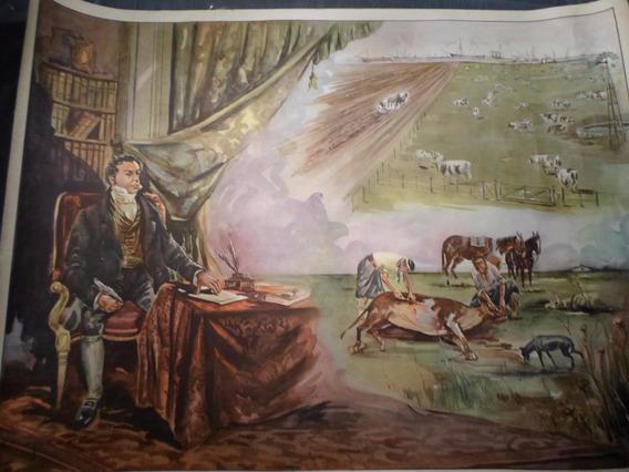 Poster Antiguo Caja Nacional De Ahorro Postal Nº 18