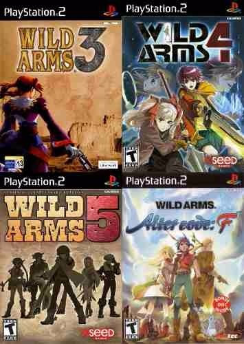 Wild Arms 3, 4, 5 E Alter Code F Playstation 2 (4 Jogos Ps2