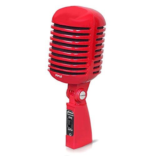 Microfono Xlr Pdmicr42bk Retro Vintage Dynamic Rojo