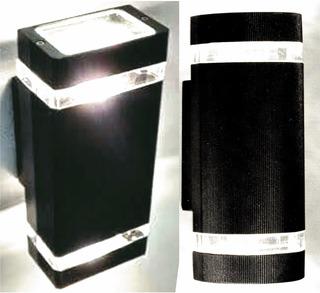 Bidireccional Exterior En Aluminio Apto Intemperie Con Dos Dicroica Led 7 W Frias O Calidas Completo Garantia 2 Años !