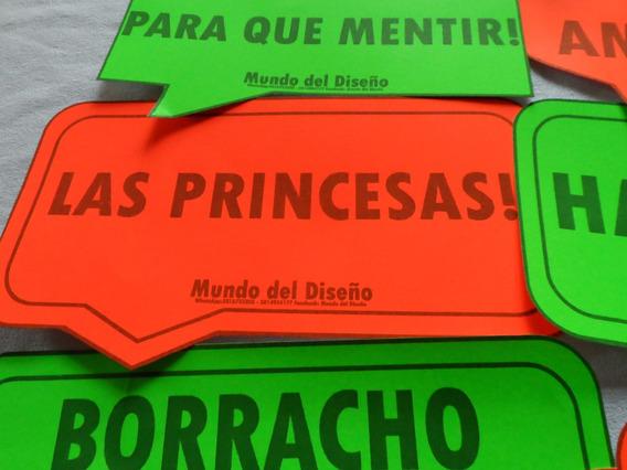 Carteles Fluor Para Fiesta Evento 15 18 Casamiento X12