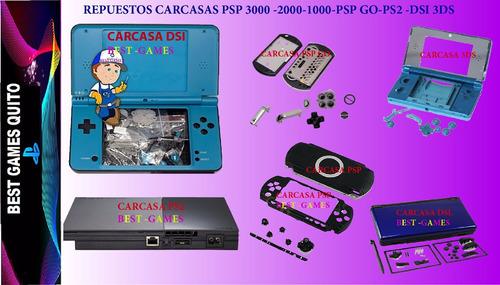 Repuestos Carcasa Pspgo-ps2-psp1000-2000-3000-dsi-dsl-3ds