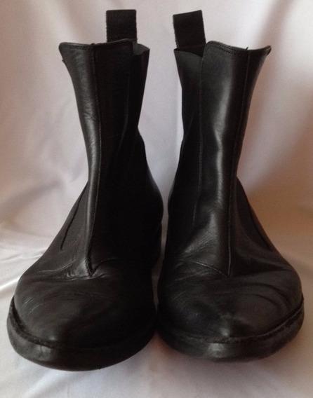 Botas De Vestir Color Negro No Logo Talle 42 1/2
