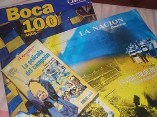 Boca 100 Años +la Nacion 100 Años Boca + Vhs(libros)