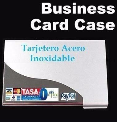 Card Case Tarjetero Acero Inoxidable Tarjeta Presentación 4g