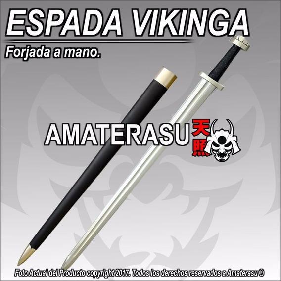 Espada Vikinga Normanda Forjada Acero 5160 Templada Vikings