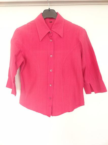 Camisa Femenina Entallada Fuscia