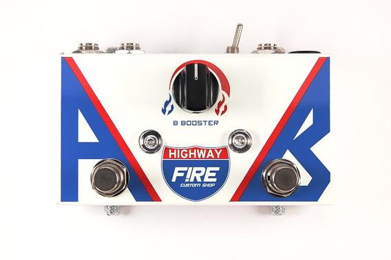 Pedal Fire Highway Ab Box Booster Guitarra - Garantia 5 Anos