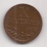 Portugal Moneda De 10 Centavos Año 1949
