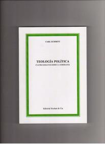 Teologia Politica -carl Schmitt - Livro Novo