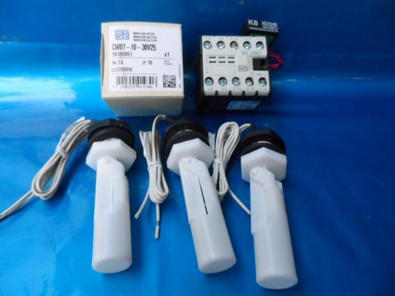 3 Sensores De Nível Água Or Eicos, 1 Contator, 1 Filtro K8
