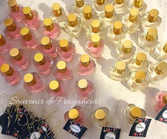 Pack 50 Corazones Perfumes X 10 Cc Y Tarjetita Personalizada