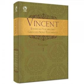 Livro - Vincent - Estudo No Vocabulário Grego Nt Volume 1