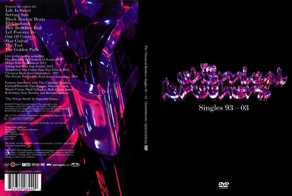 Chemical Brothers - The Singles 1993-2003 Dvd - U