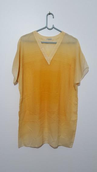 Blusa Camisa Feminina Manga Curta Transparente