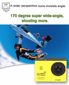 Câmera Digital Ação 1080p Com Wifi + Cartão De Memória 16gb