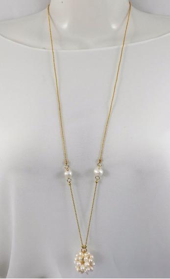 Collar Van Grieken Constelacion Perla. Baño De Oro 18k